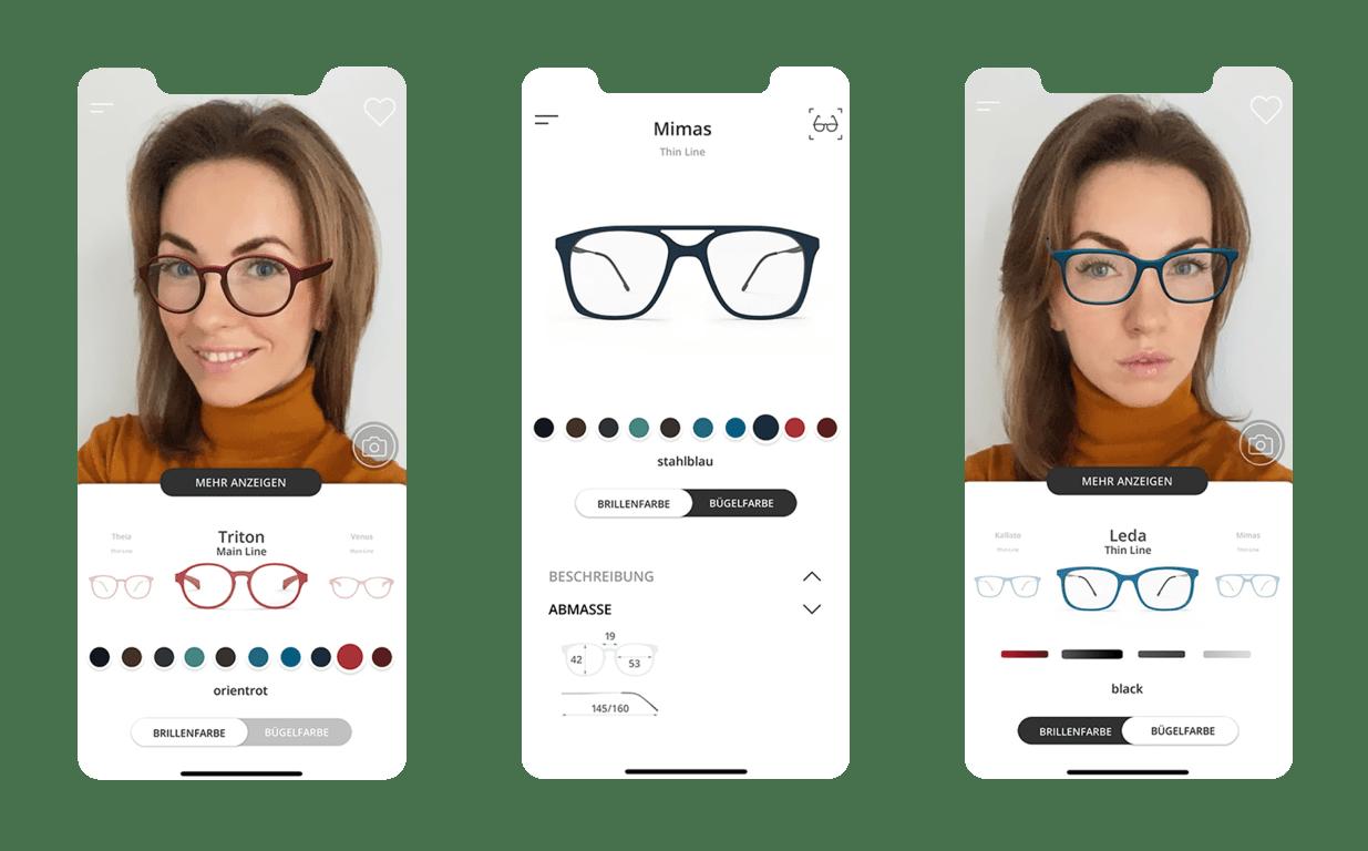 Headrix додаток з доповненою реальністю для примірки окулярів