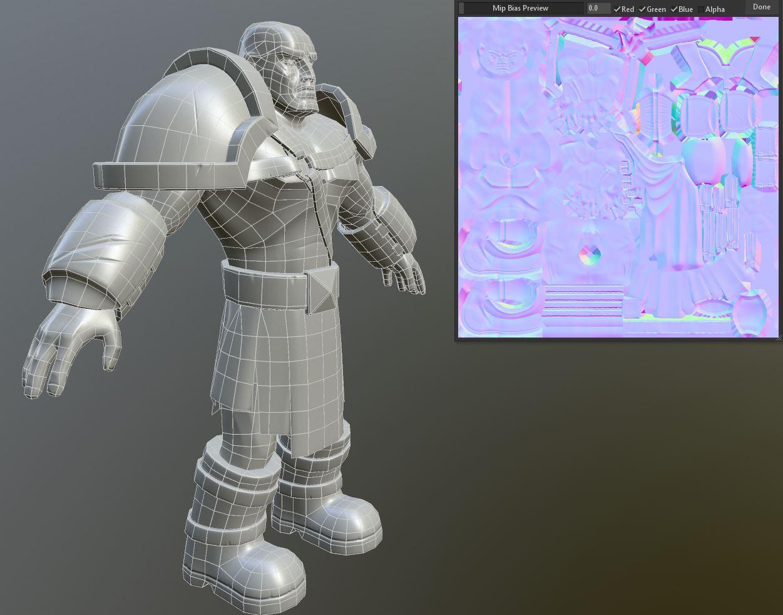 Карты нормалей 3D модель